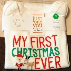 NWT CARTERS MY FIRST CHRISTMAS EVER ONESIE 3 M